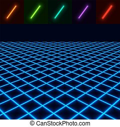 glowing perspective floor - easy to change color EPS10