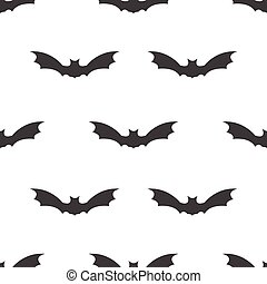 seamless pattern with bat Halloween