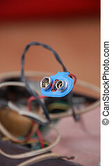 old wire contact for flat battery - picture of a old wire...