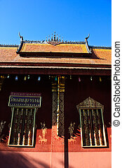 Laos temple roof#1