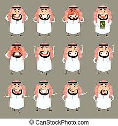 Set of cartoon muslim icons2