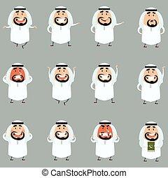 Set of cartoon muslim icons1