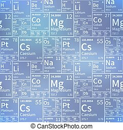 Chemical elements from periodic table, white icons on...
