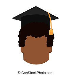 boy head graduation cap design