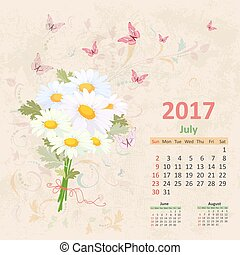 lovely bouquet of white daisies on grunge background. Vintage Ca