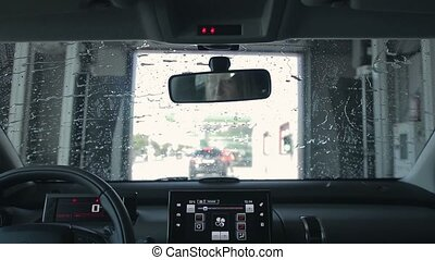 Car Cleaning in automatic Car Wash - Car Cleaning in...