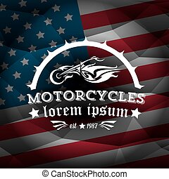 vintage american motorcycle club label or badge