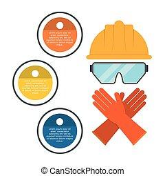 infographic industrial security design - infographic helmet...