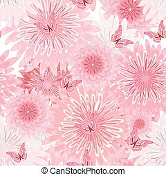 seamless texture with delicate flowers. floral fancy