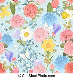 seamless texture with delicate floral design