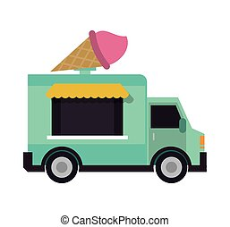 food truck delivery design - truck ice cream delivery fast...