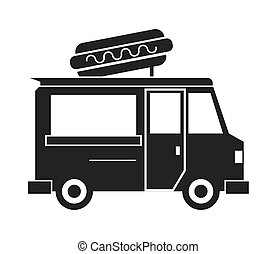 food truck delivery design - hot dog truck delivery fast...