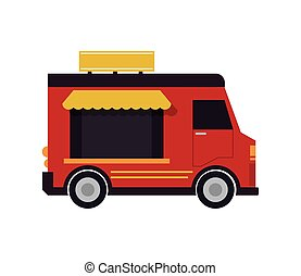 food truck delivery design - truck delivery fast food urban...