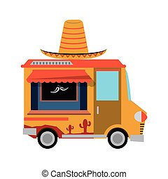 food truck delivery design - hat mexican truck delivery fast...