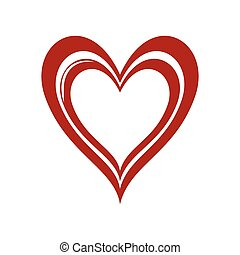 heart love romatic passion icon. Vector graphic - heart love...