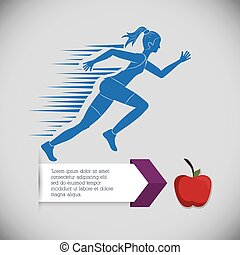 runner athlete running design