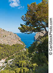 Sa Calobra on Mallorca Island Spain - Beautiful view of Sa...