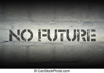 no future gr - no future stencil print on the grunge white...