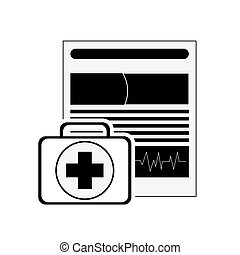 first aid kit and medical history icon - flat design first...