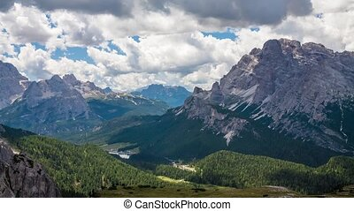 Dolomites Alps in Italy. Timelapse - Dolomites Alps in...