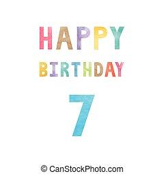 Happy 7th birthday anniversary card