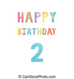 Happy 2nd birthday anniversary card