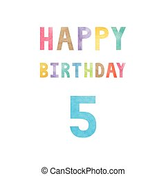 Happy 5th birthday anniversary card