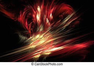 Fractal image: quot;Virtual volcanoquot; - Fractal image:...