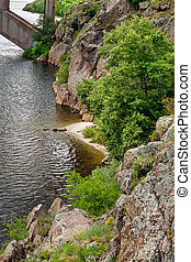 steep bank of the Dnieper - Vertical landscape of the steep...