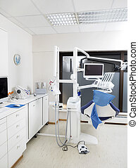 Modern Dentist Chair - Modern dentist chair in empty clinic