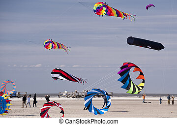 Kites - kite festival in st peter-ording germany