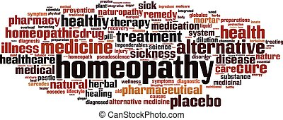 Homeopathy-horizon.eps - Homeopathy word cloud concept....
