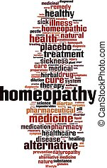 Homeopathy-vertical.eps - Homeopathy word cloud concept....