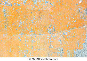 Orange metal background - Orange background: metal surface...