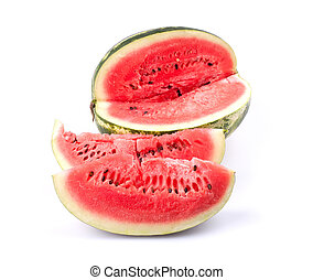 Water melon - Sliced water melon isolated on white...