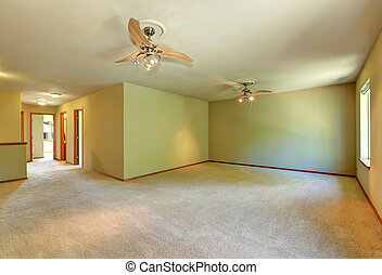Unfurnished room with carpet floor and lot of space -...