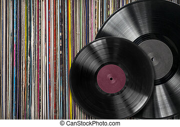Vinyl record withf a collection of albums - Vinyl records...