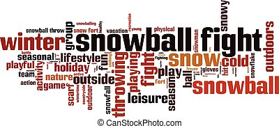 Snowball fight.eps - Snowball fight word cloud concept....