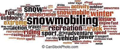 Snowmobiling-horizon.eps - Snowmobiling word cloud concept....