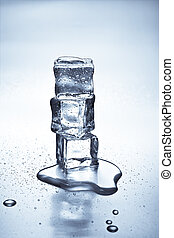 Ice cubes melting