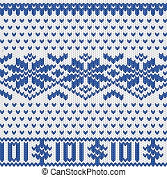 Knitted dollar scheme - Knitted dollar blue white scheme...