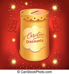 Xmas discounts holiday moneybox can - Xmas discounts holiday...