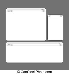 Internet Browser Window Templates Set