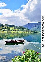 Rowboat in Ulvik, Norway.