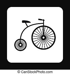 Retro bike icon, simple style