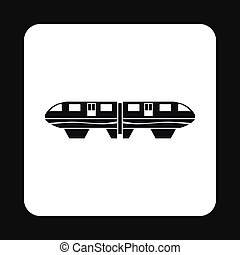 Electric train icon, simple style - Electric train icon in...