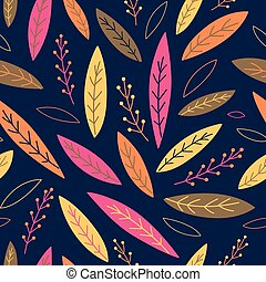 Falling autumn leaves seamless pattern. Vector illustration