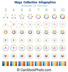 Mega Collection Infographics cyclic processes, templates for...