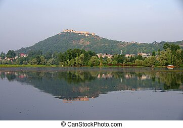 Landscape in Srinagar in Kashmir - Beautiful landscape in...