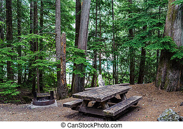 campsite of North Cascades National Park - view of campsite...